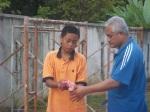Syafiq dengan bapanya, Halim.